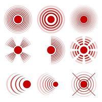 círculos de dolor aislados vector