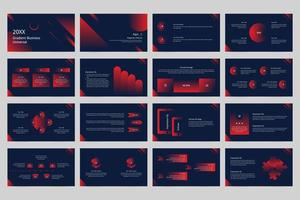 Large set of gradient business universal presentation templates.  vector
