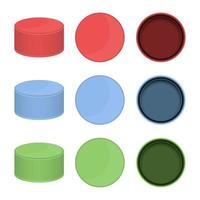 Plastic bottle cap isolated vector