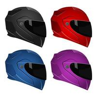 Motorcycle helmets isolated
