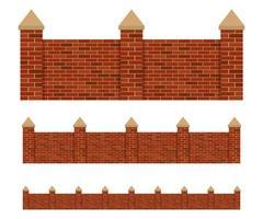 Fence of bricks vector