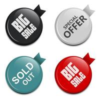 Glossy sale button