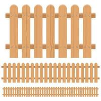 Wooden fence isolated vector