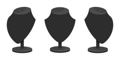 exhibición de collar aislado vector