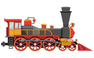 locomotora vintage aislada