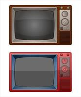 Vintage old television  vector