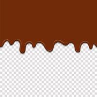 Seamless dripping caramel  vector