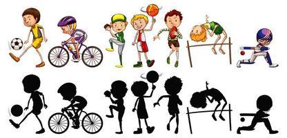 conjunto de atletas deportivos