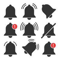 Set of notification bells  vector