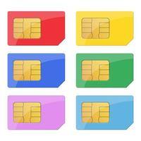 SIM card isolated