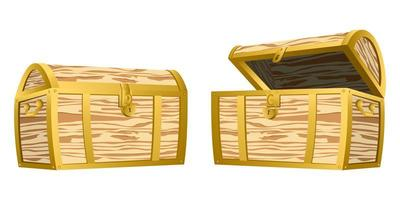 Treasure chest isolated  vector