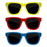 Set of sunglasses isolated vector