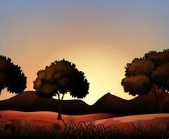 Silhouette nature scene  vector