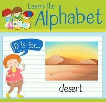 Flashcard letter D
