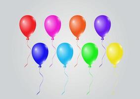 celebración colorida y globos de fiesta vector