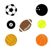 conjunto de iconos de pelota deportiva vector