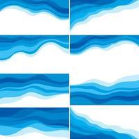 colección de diseño de onda de agua abstracta