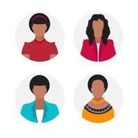 Women Faceless Avatar Set vector