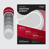 folleto de negocios corporativos moderno rojo y negro