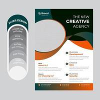 folleto de negocios degradado azul naranja
