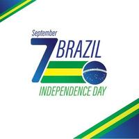 Brazil Independence day greeting card