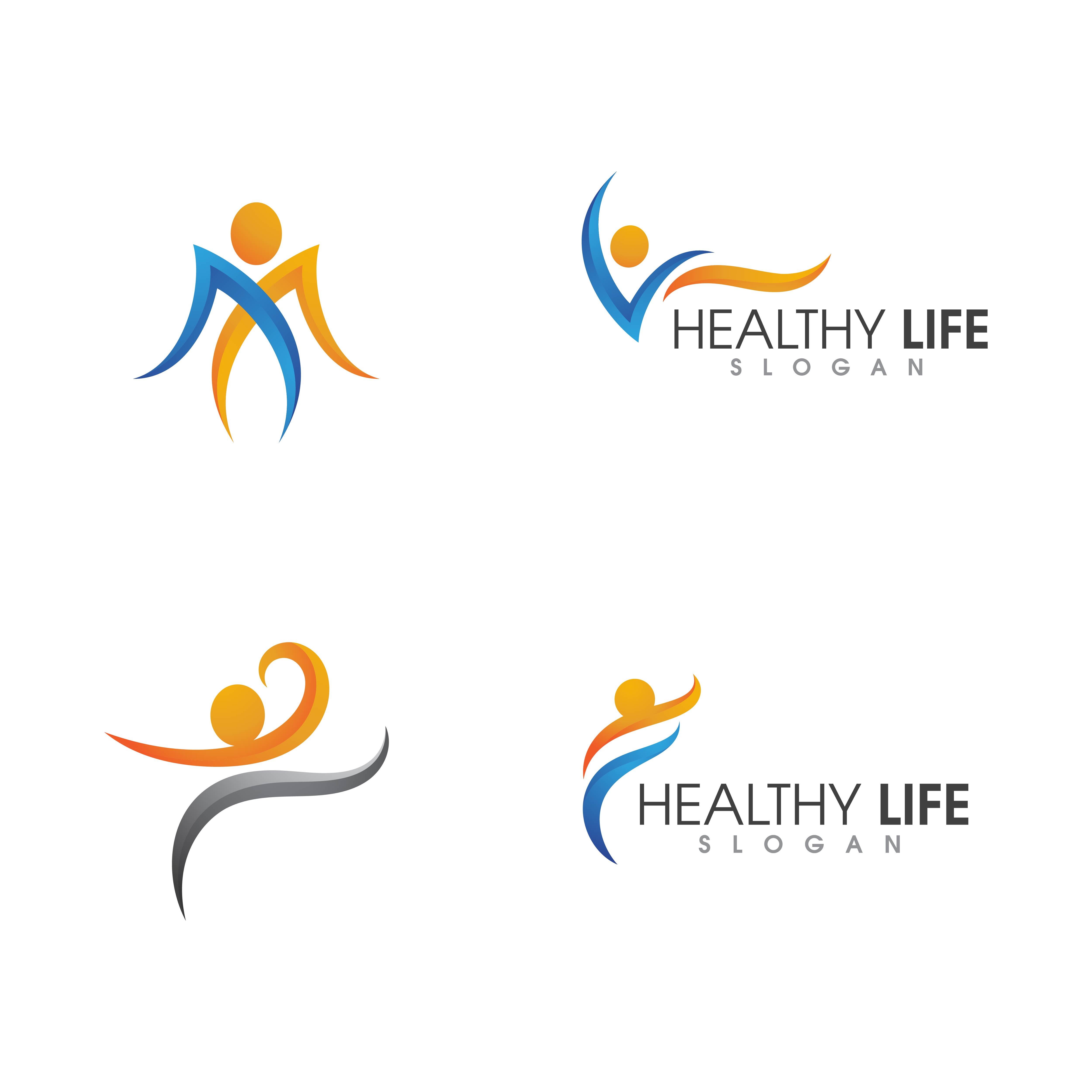 Healthy Icon Logo Set Download Free Vectors Clipart Graphics Vector Art
