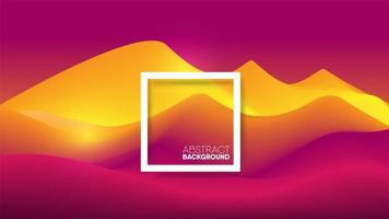 Abstract gradient pink yellow mountain