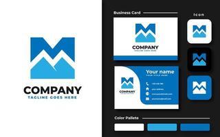Letter M Mountain Branding Set vector
