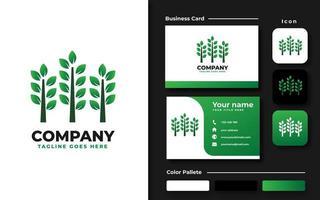 Multiple Tree Branding Set vector