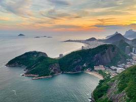 Sunset over the ocean at Rio de Janeiro
