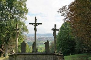 Crosses at the Hammelburg Monastery