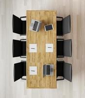 Top view of empty meeting room