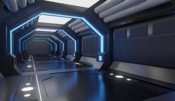 Gray spaceship interior