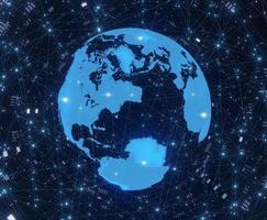 Digital technology world background
