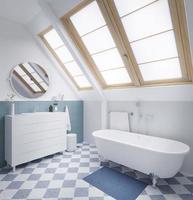 3D pastel modern bathroom  photo