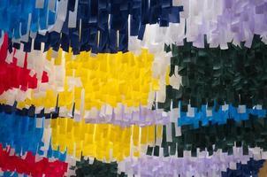 rayas de papel de colores