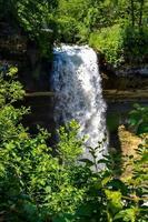 Midwestern metropolis waterfall