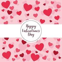 Lovely valentines card  vector