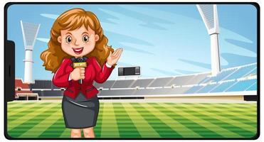 Sport news on smartphone