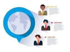 Businessmen in infographic vector