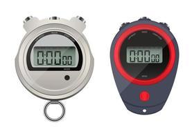 Digital stopwatch set isolated  vector
