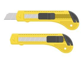 Yellow cutter blade set isolated