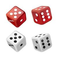 Set of casino dice vector