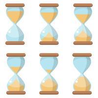 Hourglass icon set isolated vector