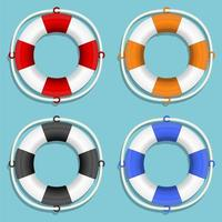 Life buoy set isolated