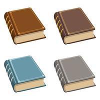 conjunto de libros antiguos antiguos vector