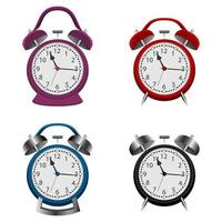 Alarm clock set isolated vector