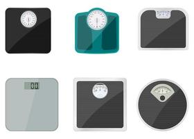 Bathroom weighing scale set