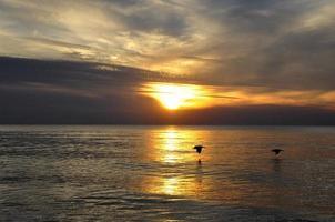 zonsondergang over de oceaan in florida