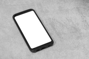 Smartphone mockup on concrete background